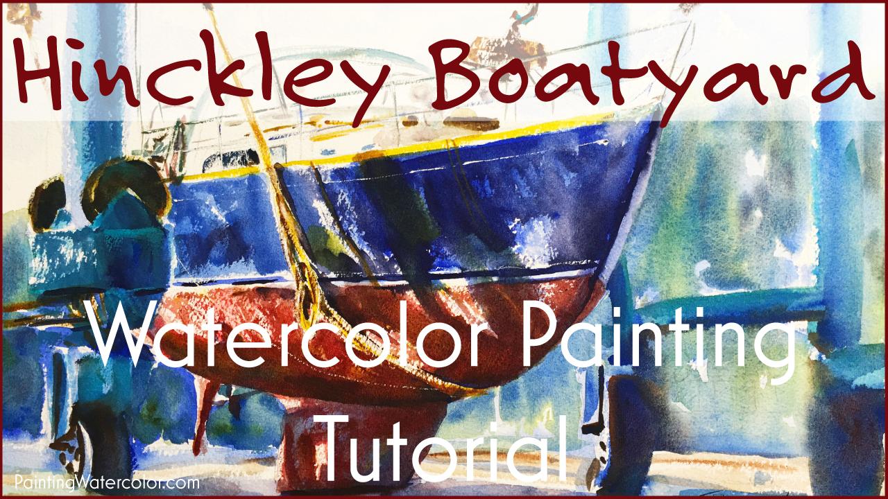 Hinckley Boatyard YouTube painting tutorial